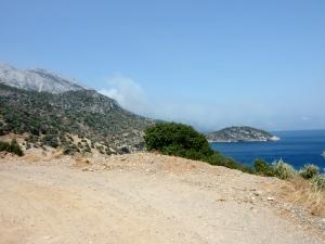 Skogbrann på Samos
